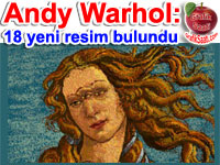 �nl� ressam Andy Warhol'un 18 resmi bulundu